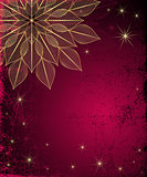 Dark red grungy Christmas frame