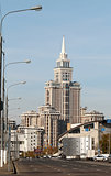 New high-rise building in Moscow