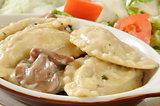Chicken mushroom ravioli