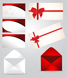 Set of paper envelopes
