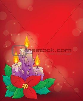 Christmas candle theme image 1