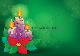 Christmas candle theme image 2