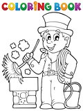 Coloring book chimney sweeper