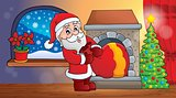 Santa Claus indoor scene 6