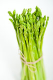 fresh asparagus over white