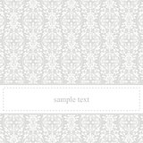 Classic, elegant vector card or invitation for party, birthday or wedding with white lace.