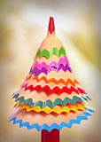 tree made ​​of pencil shavings