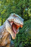 model of big tyranosaurus rex jungle