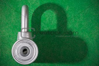 chrome padlock