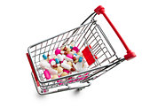 pills in shopping cart