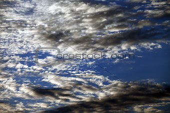 Sky with clouds at summer evening on sea