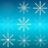 Set of snowflakes.