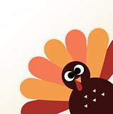 Beautiful cartoon Turkey Bird for Thanksgiving day