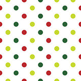 Christmas Polka Dot background in red, green and white