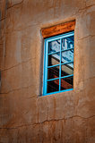 Santa Fe New Mexico turquoise window