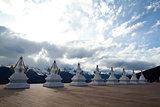White pagodas Tibet