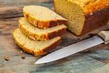 coconut bread slices