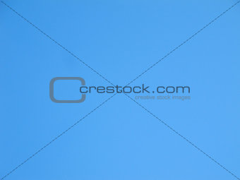 Blue clear blue sky background with little texture