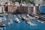 Camogli harbor in the summer