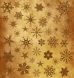 Vintage background with snowflakes
