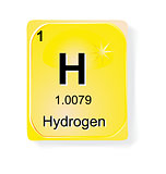 Hydrogen, chemical element with atomic number, symbol and weight