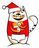 happy christmas cat