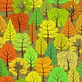 abstract autumn forest seamless background