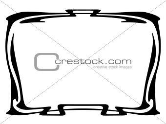 art nouveau black modern ornamental decorative frame