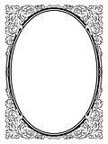 calligraphy penmanship oval baroque frame