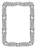 laurels square wreath tied ribbon black frame