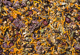 Texture of healthy herbal tea