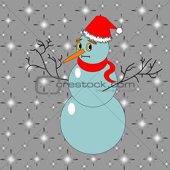 A funny Christmas snowman