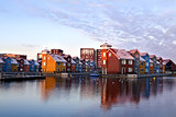 colorful buildings on water at Reitdieohaven