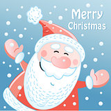 winter card with Santa Claus