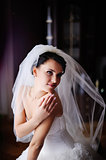 Gorgeous young  bride.