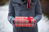 Holding giftbox
