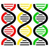 DNA Symbols . Vector illustration.