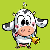 Cartoon cute baby cow
