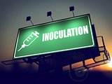 Inoculation - Billboard on the Sunrise Background.