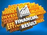 Financial Result. Wordcloud Concept.