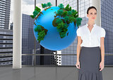 Composite image of content businesswoman posing