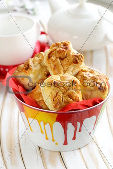 fresh buns muffins for breakfast