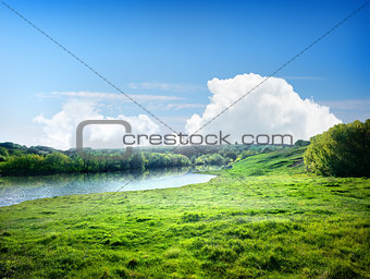 River and the field