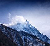 "Mount ""Aguille du Midi"". Mont Blanc massif, Alps. France."