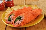 Tuscan style wrap sandwich