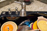 Kitchen Sink with Out of Focus Dirty Dishes
