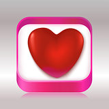 Red heart in a gift box