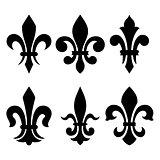 Heraldic symbols (fleur de lis)