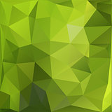 Geometric  green abstract triangular mosaics