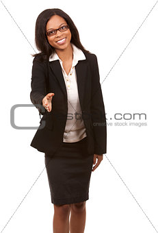 business woman handshake